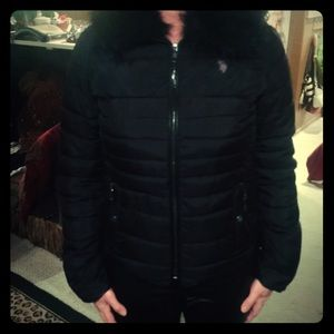 Puffer Fashion Jacket with Furr Collar